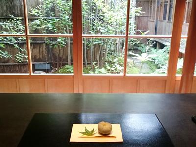 金沢の東山の志摩の茶室の寒村庵の和カフェ