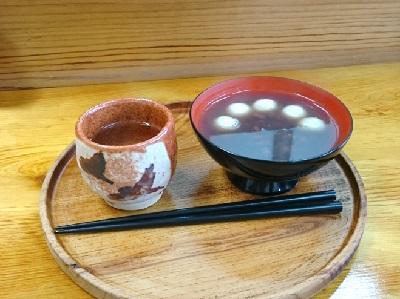 輪島市の門前の総持寺の喫茶のおしるこ