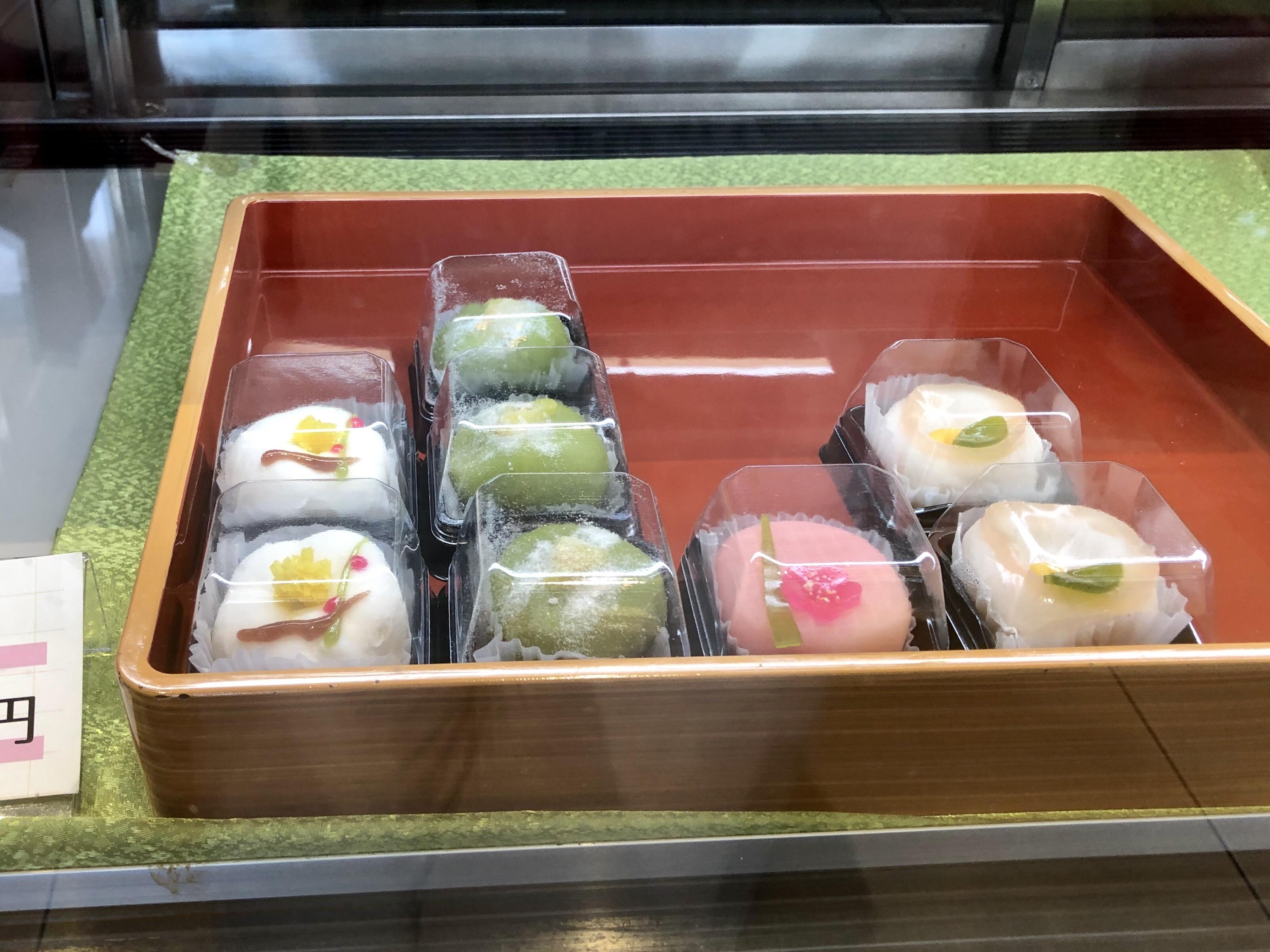 七尾市の田鶴浜の杉森の上生菓子