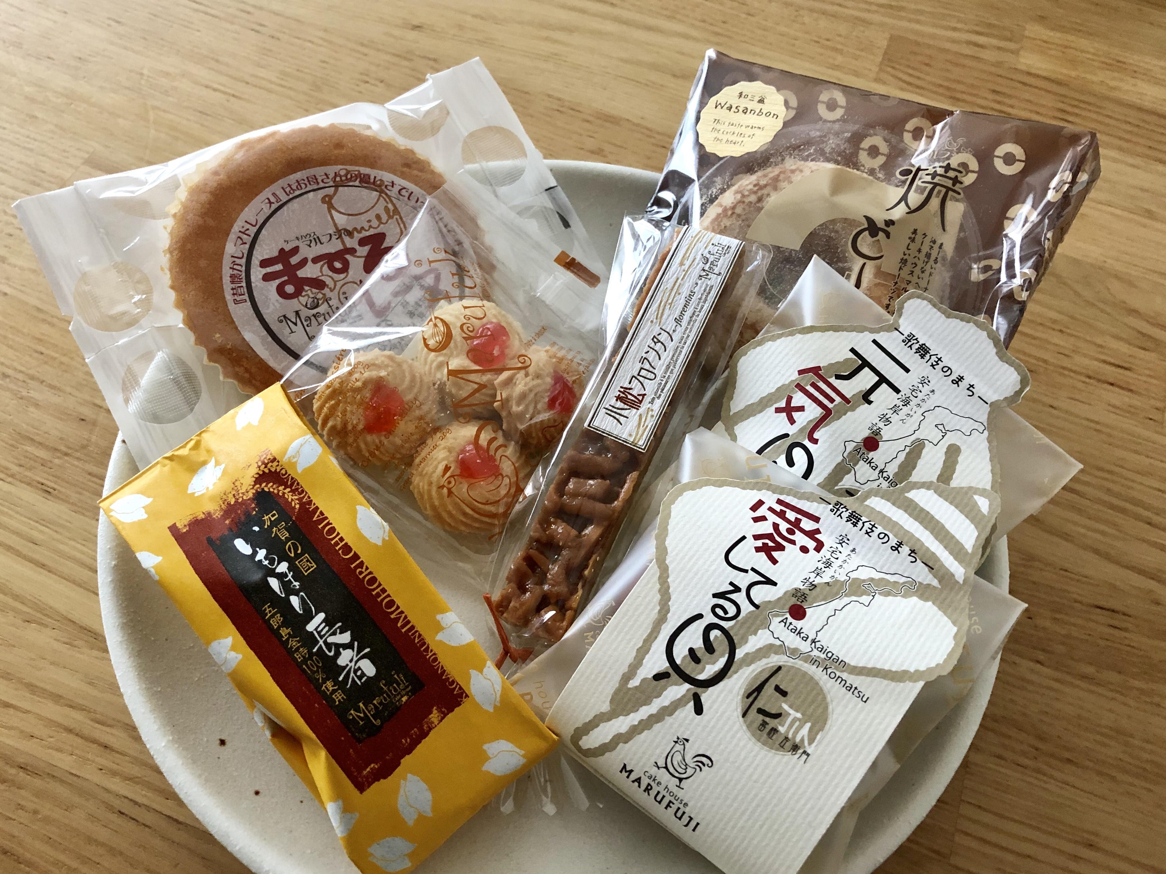 小松市のオススメのケーキ屋のマルフジのスイーツ