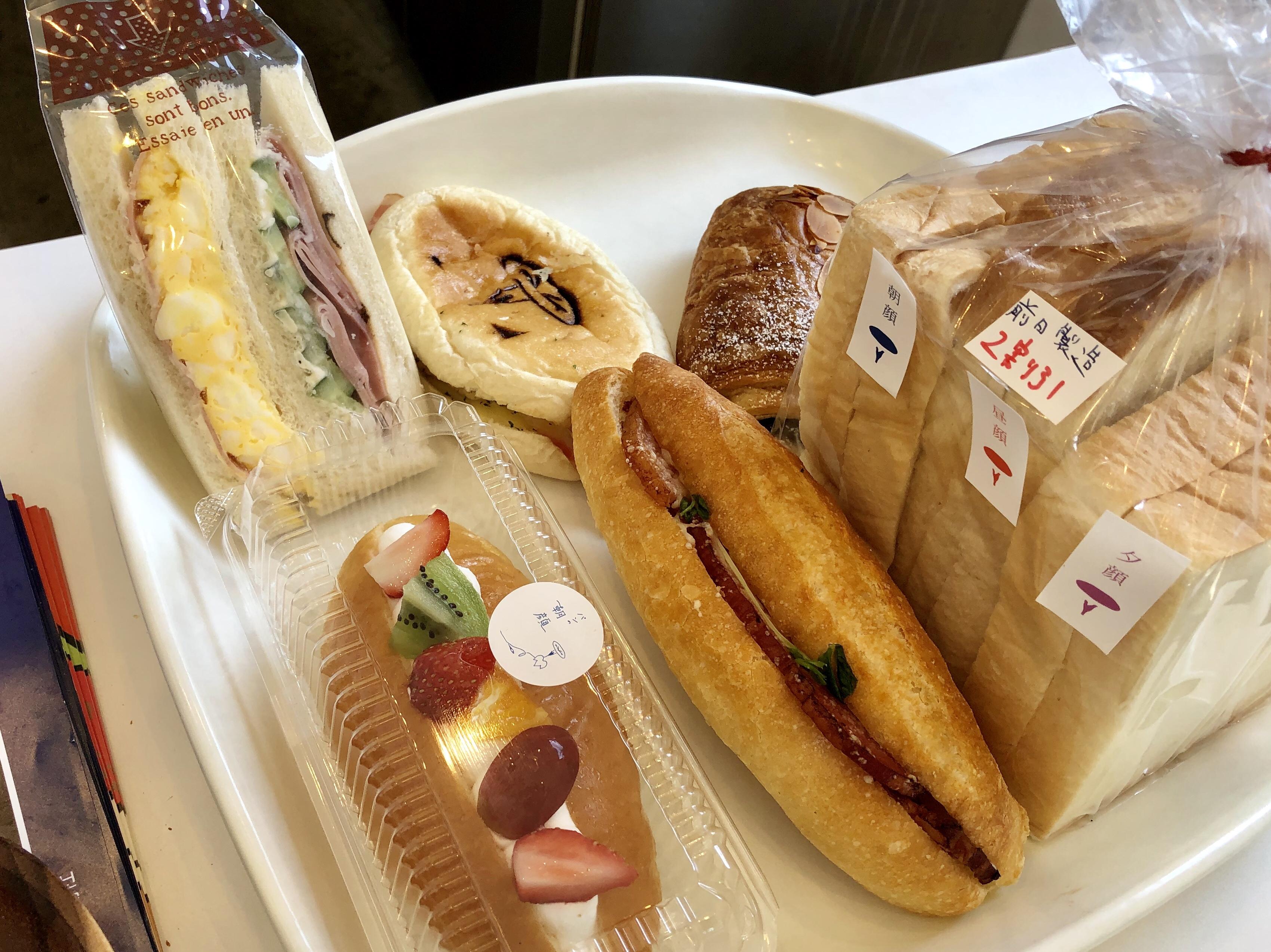 小松市八幡のベーカリー朝顔のサンドイッチ